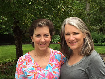 Anne Holmes' sister, Katie (right), has a genetically identical immune system to Holmes' and was able to donate life-saving stem cells to her.