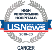 U. S. News & World Report 2019-20 High Performing Hospitals - Cancer badge