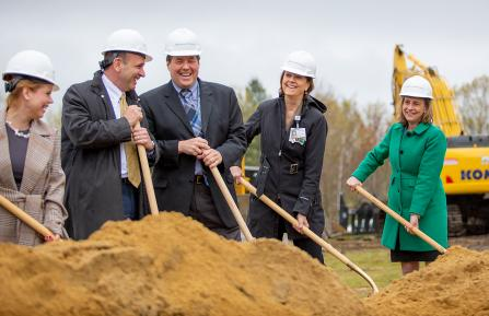 Groundbreaking for the D-H Manchester expansion.