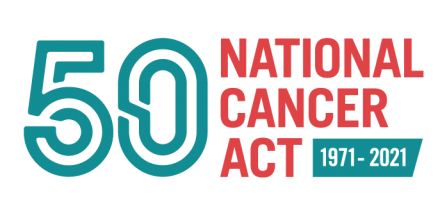 NCA - National Cancer Act 50th anniversary logo